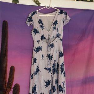 Honey Punch button up floral dress